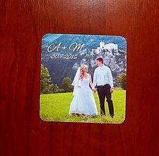Darčeky pre svadobčanov - Magnetka s vlastnou fotkou - 7042578_