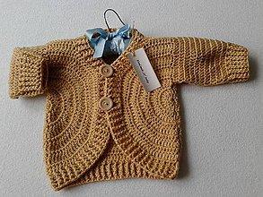 Detské oblečenie - KARAMELOVY SVETER - 7043178_