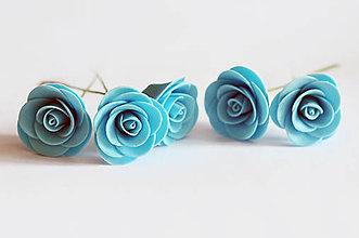 Drobnosti - Jedlé ružičky stredné 5 ks - 7044253_