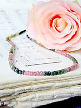 Náhrdelníky - Multicolor Tourmaline Rondelle Necklace / Náhrdelník z pravého viacfarebného turmalínu - 7043954_