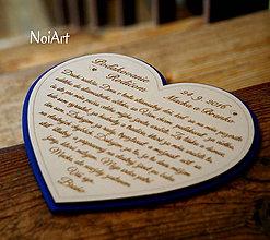 Darčeky pre svadobčanov - Srdiečko Poďakovanie rodičom 19 - 7045486_