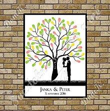 Papiernictvo - Svadobný strom A1 so siluetou 3 - 7046227_