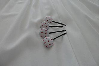 Ozdoby do vlasov - Sponky buttonkové - 7045924_