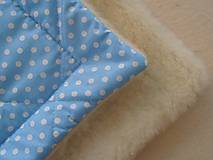 Textil - Zimná zavinovačka 100% ovčia vlna MERINO TOP BODKA - 7043413_