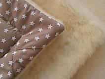 Textil - Perinka hviezda MERINO TOP béžová - 7043445_