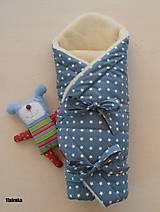 Textil - Zavinovačka pre bábätka/ miminká ovčie runo MERINO TOP - 7043545_