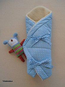 Textil - Zimná zavinovačka 100% ovčia vlna MERINO TOP BODKA - 7043406_