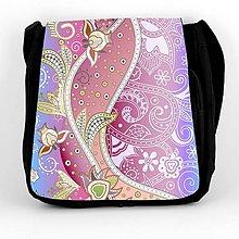 Iné tašky - Taška na plece ružovomodrý ornament - 7046269_