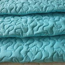 Úžitkový textil - Tyrkysová zástena s vlnami - 7043672_