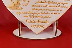 Darčeky pre svadobčanov - Drevene srdiečko ako poďakovanie rodičom 19 - 7045638_
