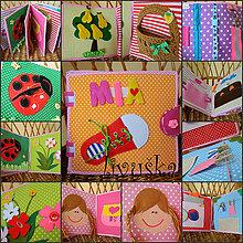 Hračky - textilná knižka MIA - 7048196_
