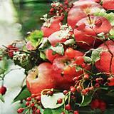 Papier - S766 - Servítky - jablko, šípky, apple, jeseň - 7048053_