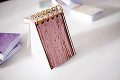 Papiernictvo - Mini ružový *do kabelky - 7047306_