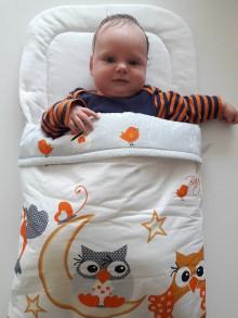 Textil - Perinka MIA oranžová sovička - 7048258_