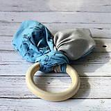Drevené hryzadlo pre najmenších Herbár v modrom