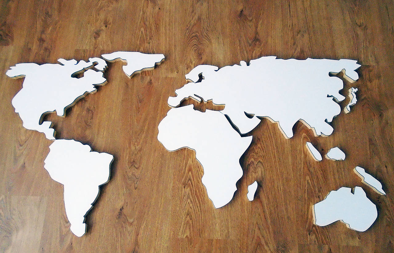 Mapa Sveta 3d Superjoden