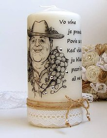 Drobnosti - Dekoračná sviečka pre vinára :) - 7047214_