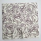- Servítka K9- Fialové ruže - 7050251_