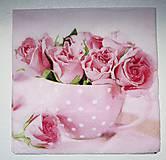 - Servítka K13 Ruže v šálke - 7050257_
