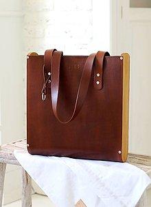 Veľké tašky - Taška SHOPPER BROWN - 7047923_