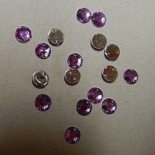 Iný materiál - Našívacie kamienky kruhové 6mm (svetlofialové) - 7050282_