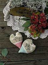 Darčeky pre svadobčanov - srdiečka Nostalgia - 7051850_