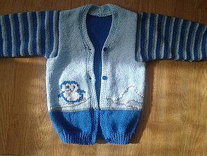 Detské oblečenie - chlapčenský svetrík - tučniačik - 7052357_