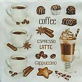 Papier - S756 - Servítky - coffee, káva, latté, epresso - 7050557_