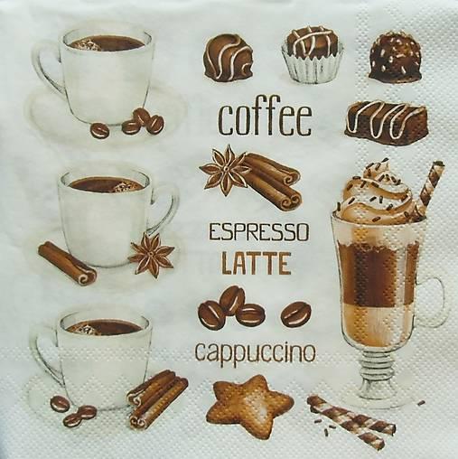 S756 - Servítky - coffee, káva, latté, epresso