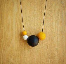 """Náhrdelníky - náhrdelník """"minimal 14"""" - drevo maľované akrylom - 7050848_"""