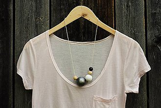 """Náhrdelníky - náhrdelník """"minimal 17""""- drevo maľované akrylom - 7050884_"""
