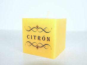Svietidlá a sviečky - Vonná kocka - CITRÓN - 7052271_