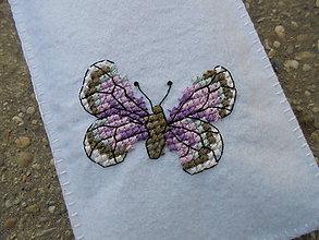 Na mobil - Filcové púzdro na mobil - Motýľ - 7051456_