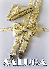 Detský zlatý set motýlik + traky