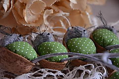 Dekorácie - Myška zelená perinka - 7051132_