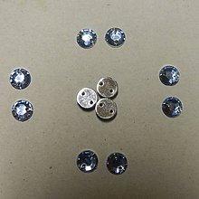Iný materiál - Našívacie kamienky kruhové 6mm (svetlomodré) - 7051437_