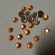 Iný materiál - Našívacie kamienky kruhové 6mm (oranžové) - 7051482_