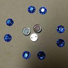 Iný materiál - Našívacie kamienky kruhové 6mm (tmavomodré) - 7051509_