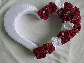Dekorácie - svadobné srdce - 7052652_