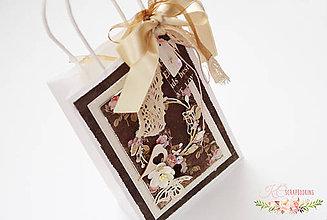 Papiernictvo - Vintage darčeková taštička - 7053587_