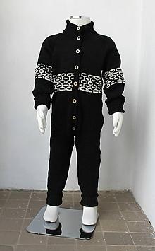 Detské oblečenie - Overal zo strojovej Merino vlny - 7054260_