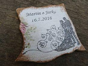 Magnetky - svadobne magnetky - 7054929_