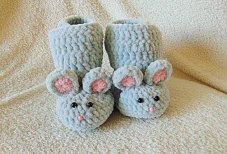 Topánočky - Plyšové myšičky :) - 7054297_