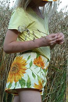 Detské oblečenie - Slnečnicové kraťasky - 7054231_