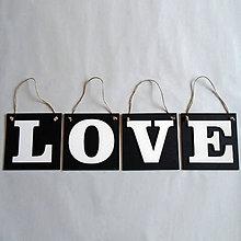Dekorácie - Závesné tabuľky LOVE - 7054998_