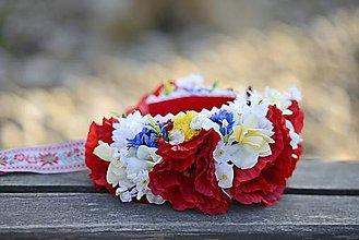 Ozdoby do vlasov - parta na čepčenie by michelle flowers - 7055888_