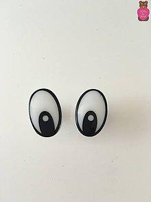 Komponenty - Bezpečnostné oči (pár) - biele 20x12mm - 7057798_