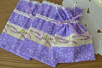 Úžitkový textil - Fialové malé vrecúško - 7056963_
