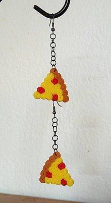Náušnice - Trojuholníky Pizze - náušnice - 7055643_