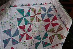 Textil - Tenká patchwork dečka  - 7056228_